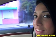 Stranded latina sexbomb fucking in public