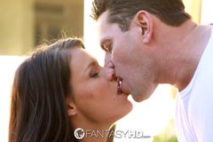 Peta Jensen with a deep throat swallows a warm load