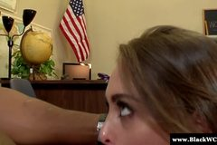 Petite Riley Reid bouncing on BBC