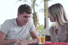 Skinny Gina Gerson receives perfect gapeshot