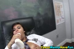 Slutty teen fucked hard