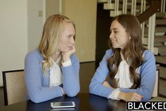 Two Teen Girls Share a Huge BBC