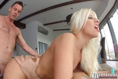 Double anal creampie for french pornslut
