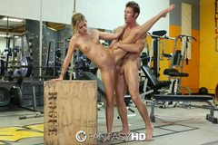 HD - Jessa Rhodes rides guys hard dick for her workout