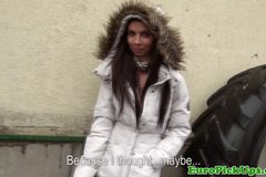 Petite clitpierced euro amateur jizzed on
