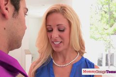 Cougar Cherie Deville facialized at threeway