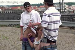 Risky PUBLIC teen orgy at a railway station