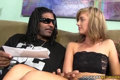 Alana Rains' first Interracial Anal Scene