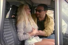 Blonde caught by the driver Roberto Malone in mini-bus