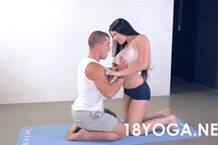 Mira Cuckold Gets Ass Fucked Trying To Teach Couples Yoga To Boyfriend