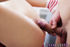 Euro teen swallows cum