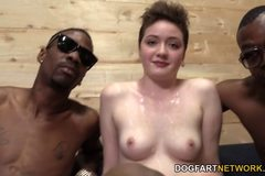 Emma Snow Gets Her Teen Pussy Banged By Black Men