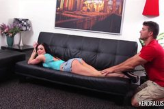 Kendra Lust massaged and fucked by neighbor
