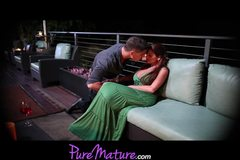 PureMature Seductive Mom Alison Star Gets Banged On Romantic Balcony Setting