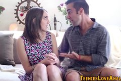 Facefucked teen spunked