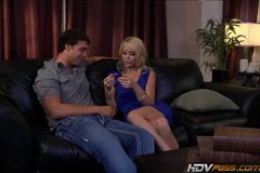 Petite blonde MILF Monique Alexander Fucks Younger Guy