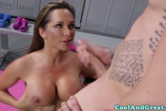 Pierced tattooed yoga beautie stretches pussy for cock