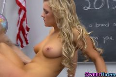 Busty teen fucks teacher