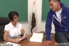 Horny MILF teacher Done over Desk