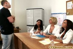 Nasty femdom Shy Love makes dude cream