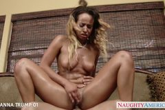 Hot assed Teanna Trump gives blowjob
