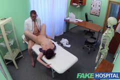 FakeHospital Sexy brunette learns that only hard cock can cure her depression