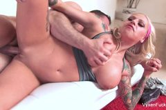 Vyxen Steel fucks her  trainer