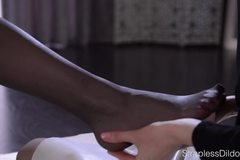 Pantyhose Foot Massage and Tribbing until Orgasm