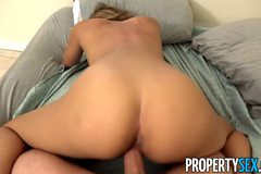 Sexy Latina looking to rent apartment fucks landlord