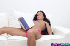 Teen babe takes hard cock