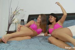 Hot teens threesome