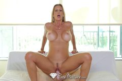 Tall blonde milf Alexis Fawx fucked and creampied