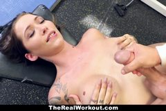 Tatted Up Trainer Slut Fucks Her Client