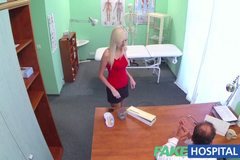 Wet and wild blondes tight pussy convinces doctor to allow her to return to work