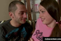 Busty brunette teen Vlada gets nailed