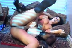 Hardcore sex in stockings and sexy high heels