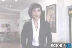 Cute real estate agent makes dirty sex video with her client