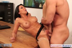 Tattooed office babe Rachel Starr fucking