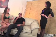 Kendra Lust and Abby Cross in threesome