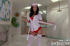 Sexy nurse helps horny guy