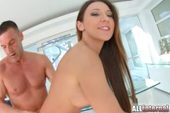 Julie Skyhigh loves taking a messy creampie in her hole