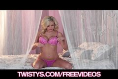 Twistys - Stunning blond model Lacey Foxx rubs her wet pussy