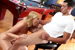 Vanessa Cage Fucked On The Table
