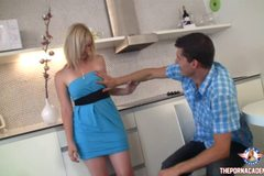 Kitchen anal sex