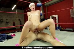 Horny Brunette Fucked in The Gym