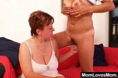 Old lesbians strap on plastic cock sexual intercourse