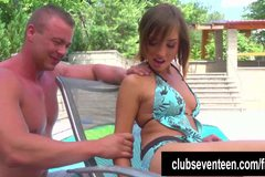 Lusty teen Tina fuck the poolboy