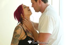 Inked up MILF Anna Bell Peaks gets pussy filled with cum