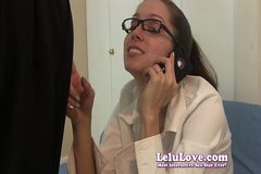 Lelu Love-Phoning Husband While Sucking Cock