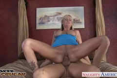 Hot blonde cougar Allison Kilgore fucking